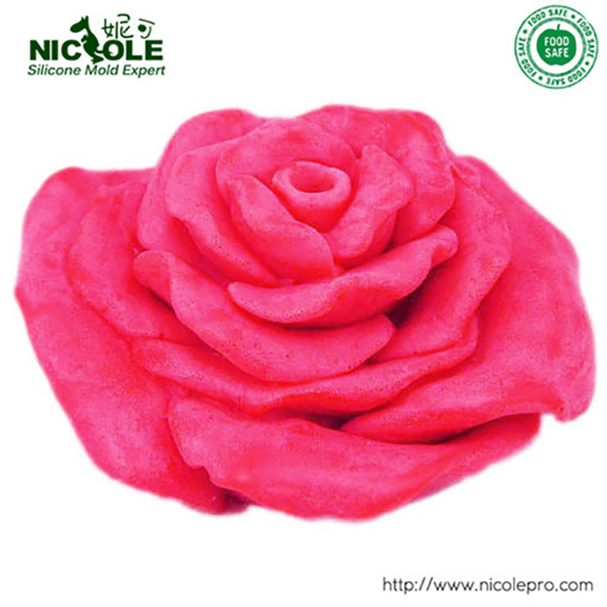 Rose Flower Soap Silicone Mold Flexible Resin Candy and Candle Mould Chocolate