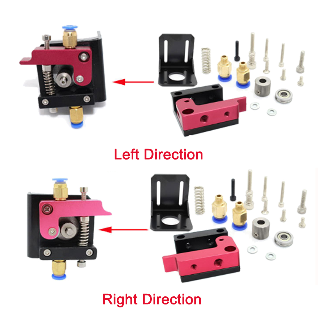 MK8 All-metal 1 75mm Remote Bowden Extruder Kit For 3D