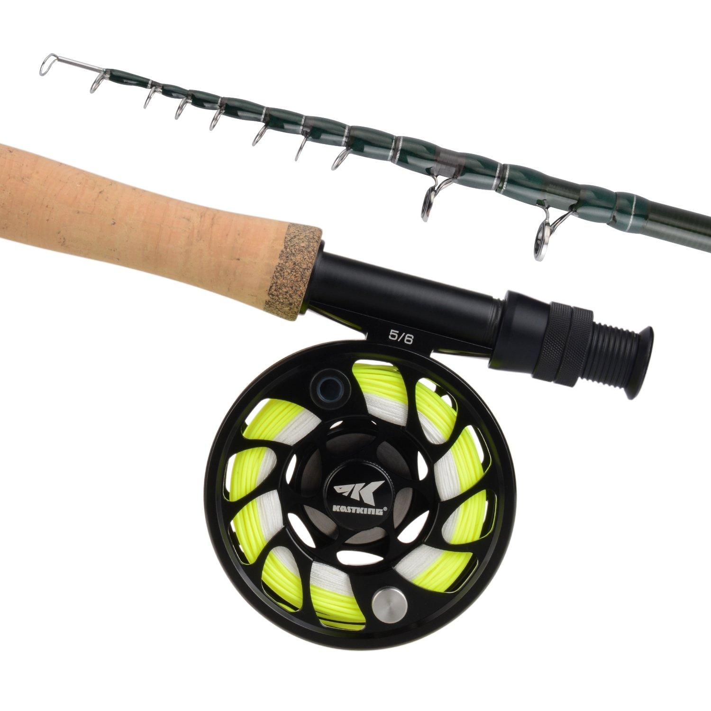 KastKing Emergence Fly Fishing Combo Graphite Fly Rod Aluminum Fly Reel  Fly Kit
