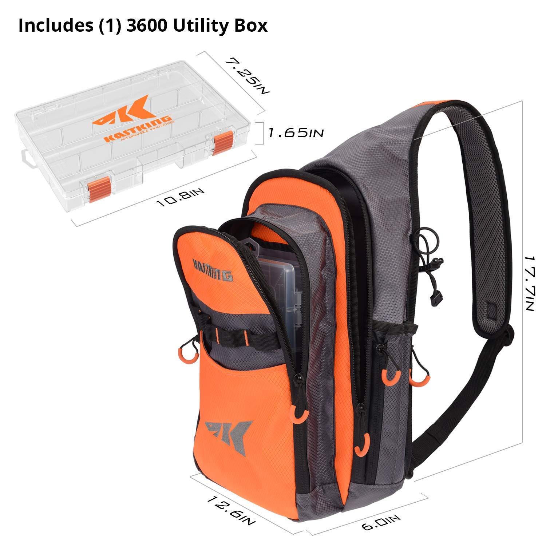 1 KastKing Sling Tackle Bag and 3600 Tackle Box