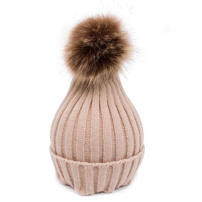 Women Beanie Crochet Ski Cap Wool Pom Fur Ball Bobble Knitted Lady Hat Winter