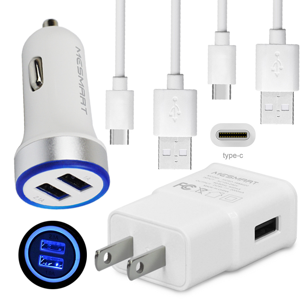 Fast Charging For LG Stylo 4 + G7 V40 ThinQ 2A Wall Car Charger Type