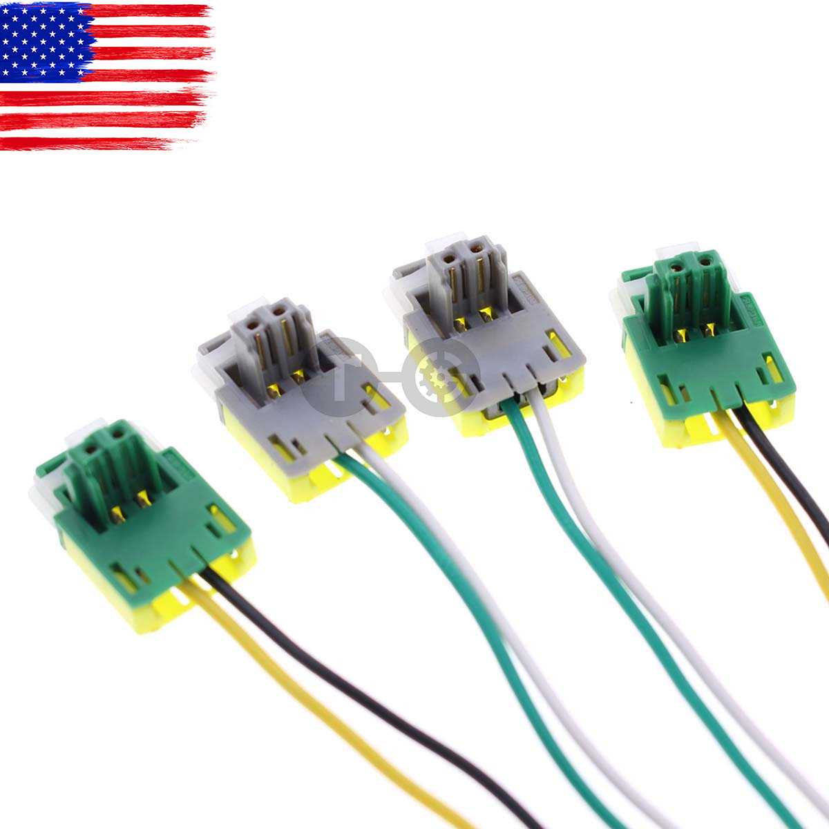 4pc Airbag Clock Spring Plug Wire Connector For Honda