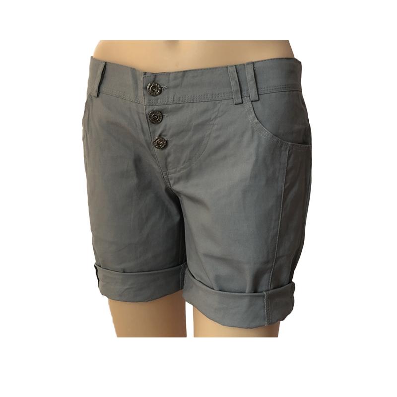 Damen Sommer Hot Pants Capri Kurze Hose Stoffhose Bermuda Stretch Shorts Hotpant