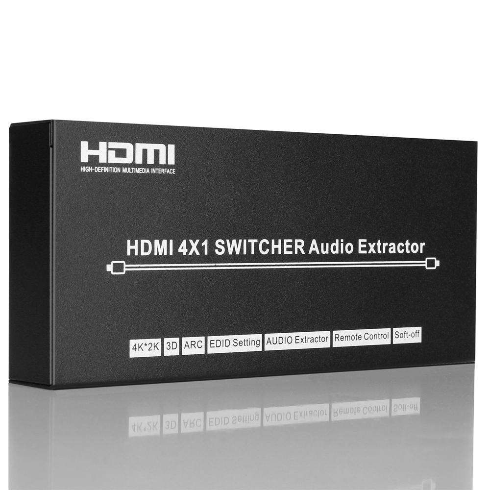 4X1 HDMI Splitter Switcher 4K*2K HDMI 4 Way Switch Switch With Audio ...