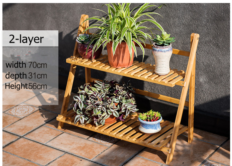 indoor outdoor bamboo garden decor pot flower planter display book shelf stand - Bamboo Garden Decor