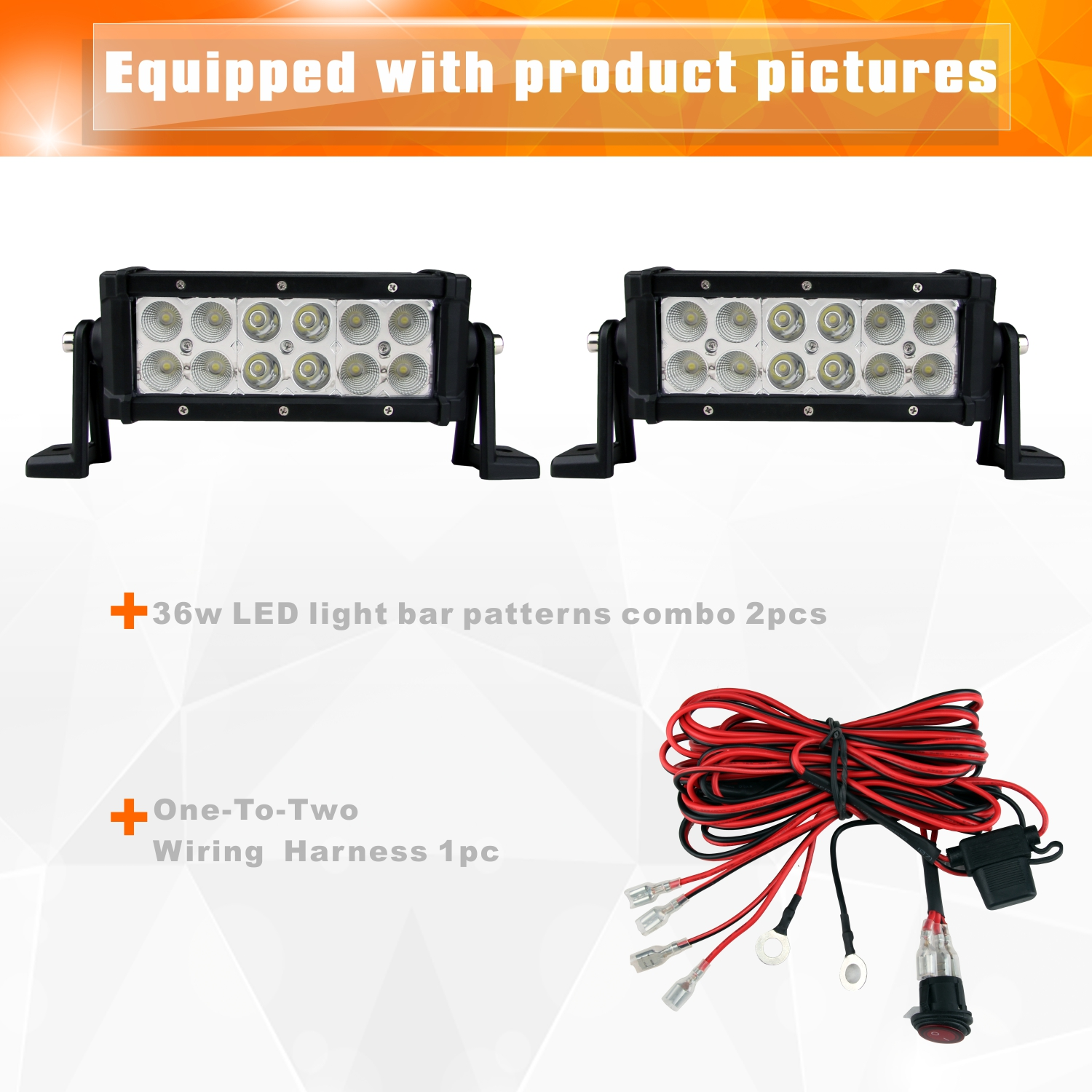 236w 8 Cree Led Work Light Bar Driving Fog Lamp For Truck12 24v Wiring Auxiliary Lights Jeep Kit