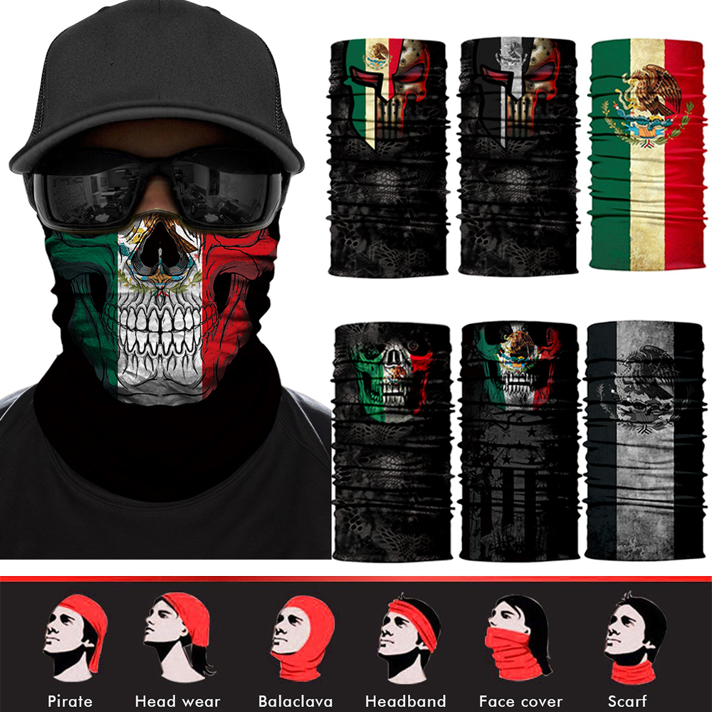 Malta Flag Skull 12 in 1 Multifunctional Multi Functional Headwear Best for Running Cycling Hot Yoga and Athletic Workouts