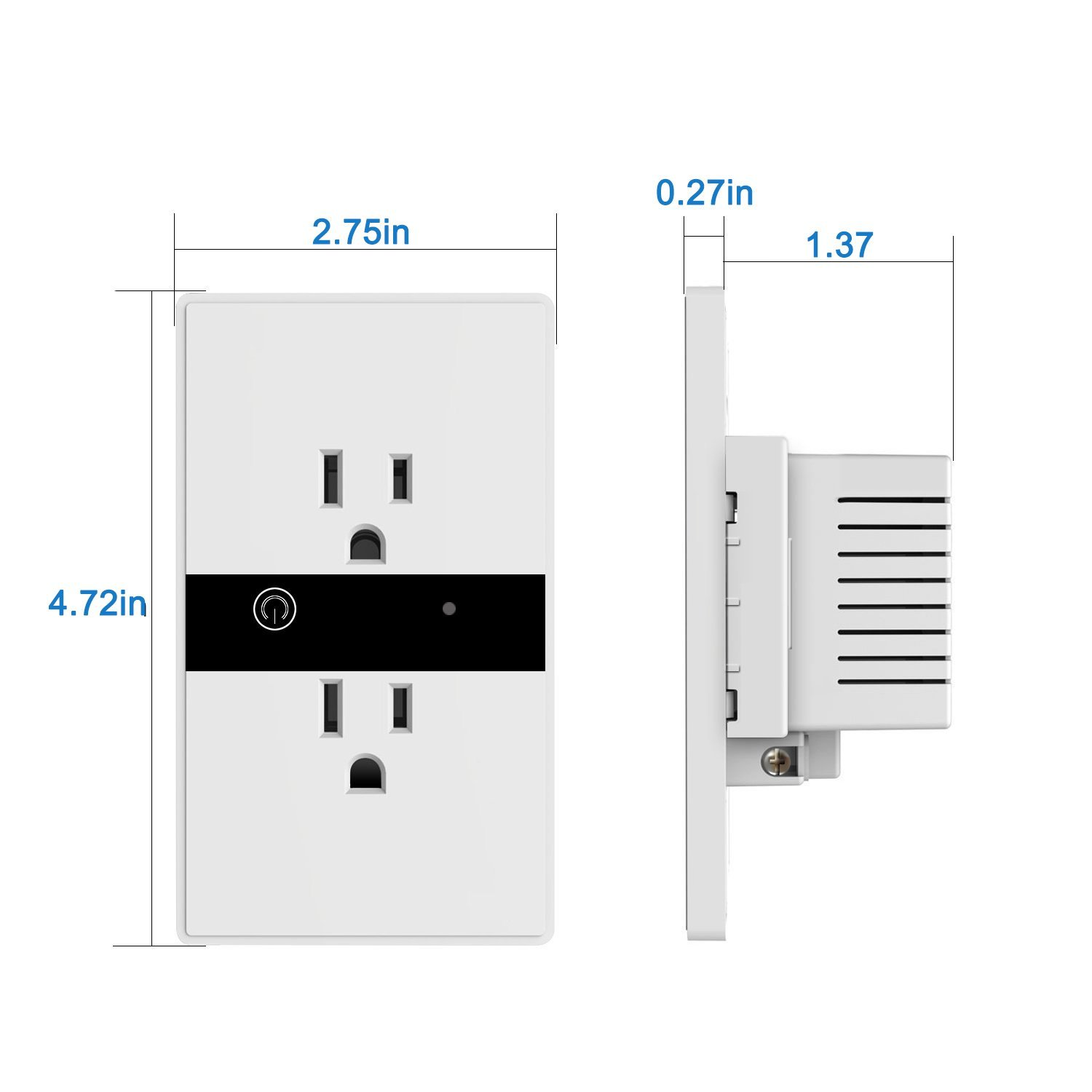 Smart Wall Socket Plug Wifi Power Outlet Remote Control Timer Alexa ...
