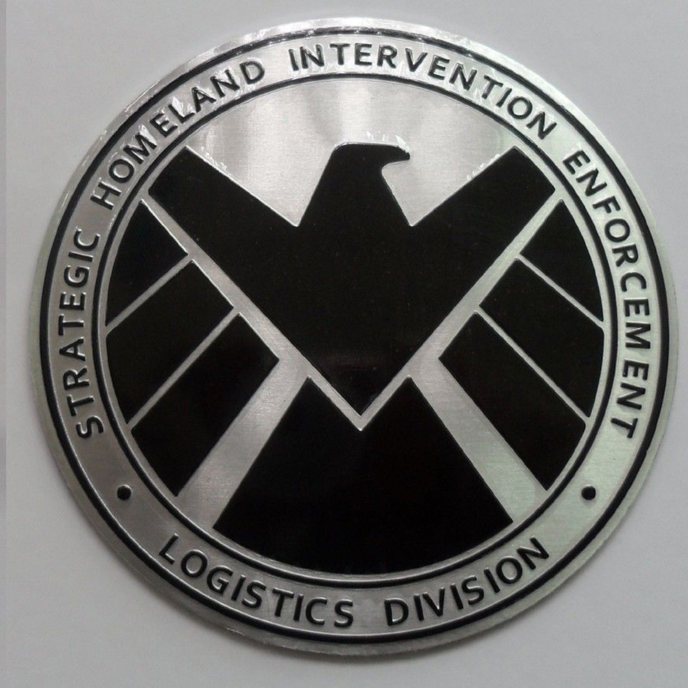 Agents Of Shield 3d Chrome Metal Car Sticker Badge Motorcycle Fender