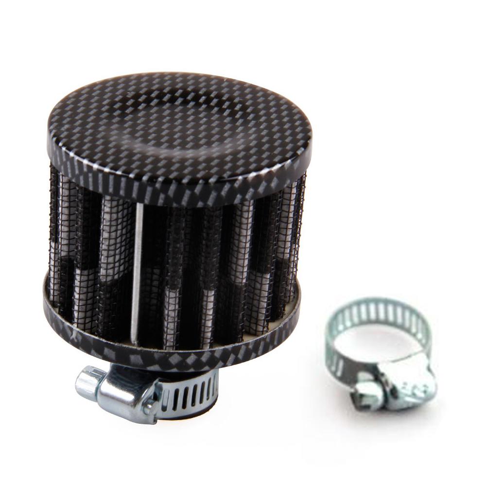 Hot Sales 12MM Cold Air Filter Carbon Fiber Cone Mini Black For Cars