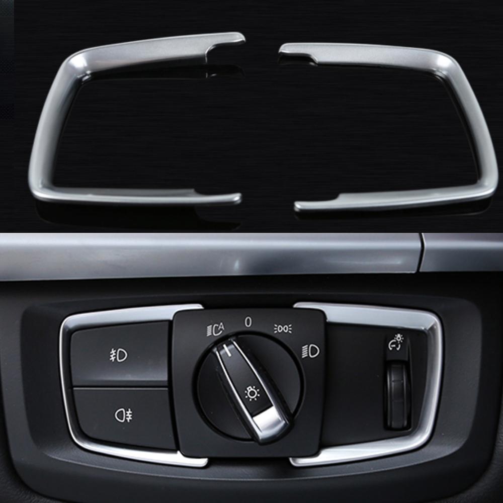 Head Light Matt Chrome Switch Trim Cover For BMW F30 F31 F32 F34 1 3 4 Series X5
