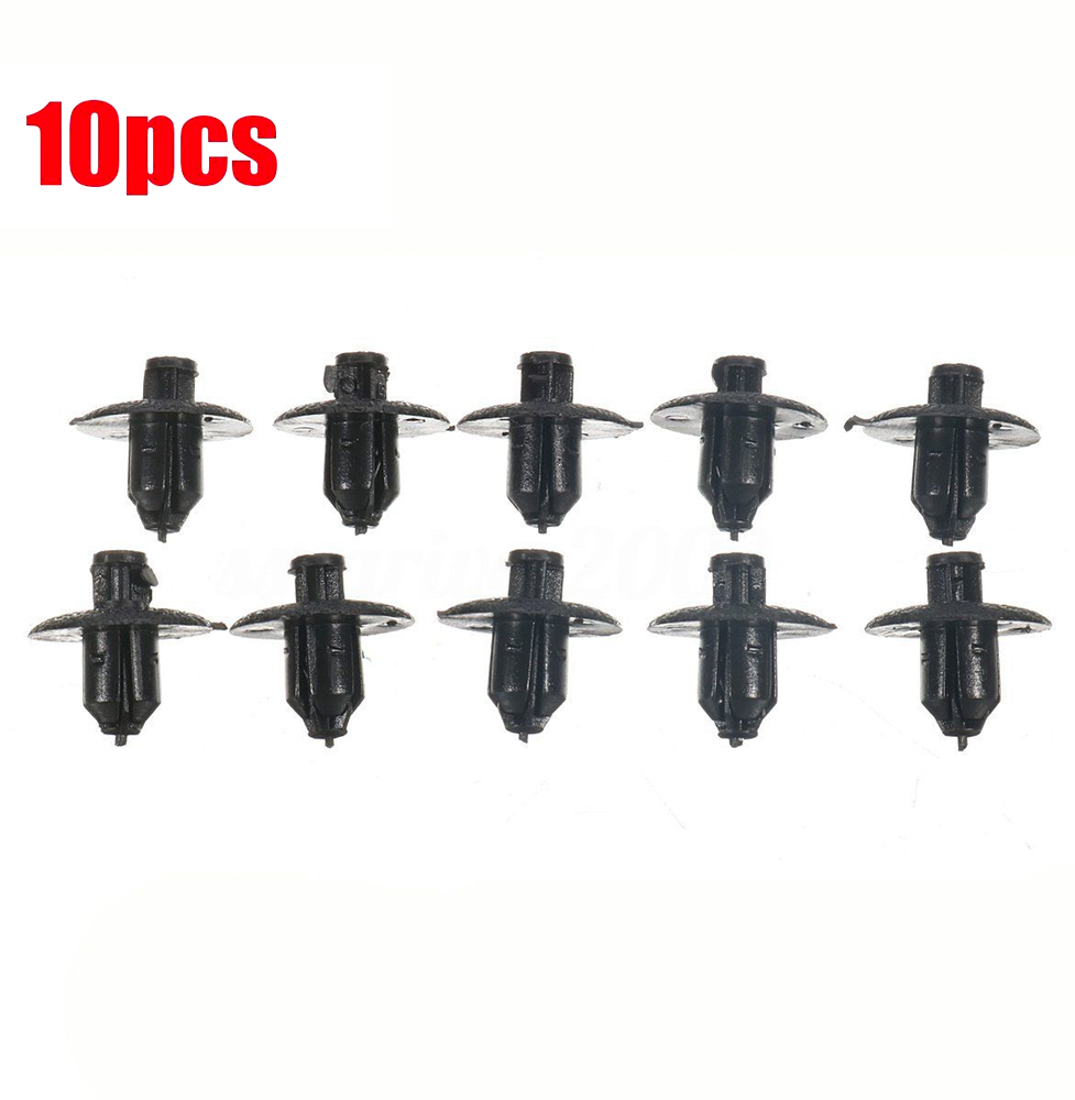 10pcs engine side cover clips retainer black push type for