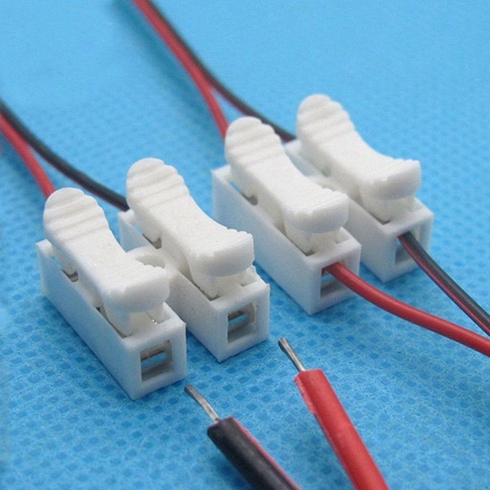 30PCS Car 2Pin Terminals Electrical Cable Connectors Quick Splice ...