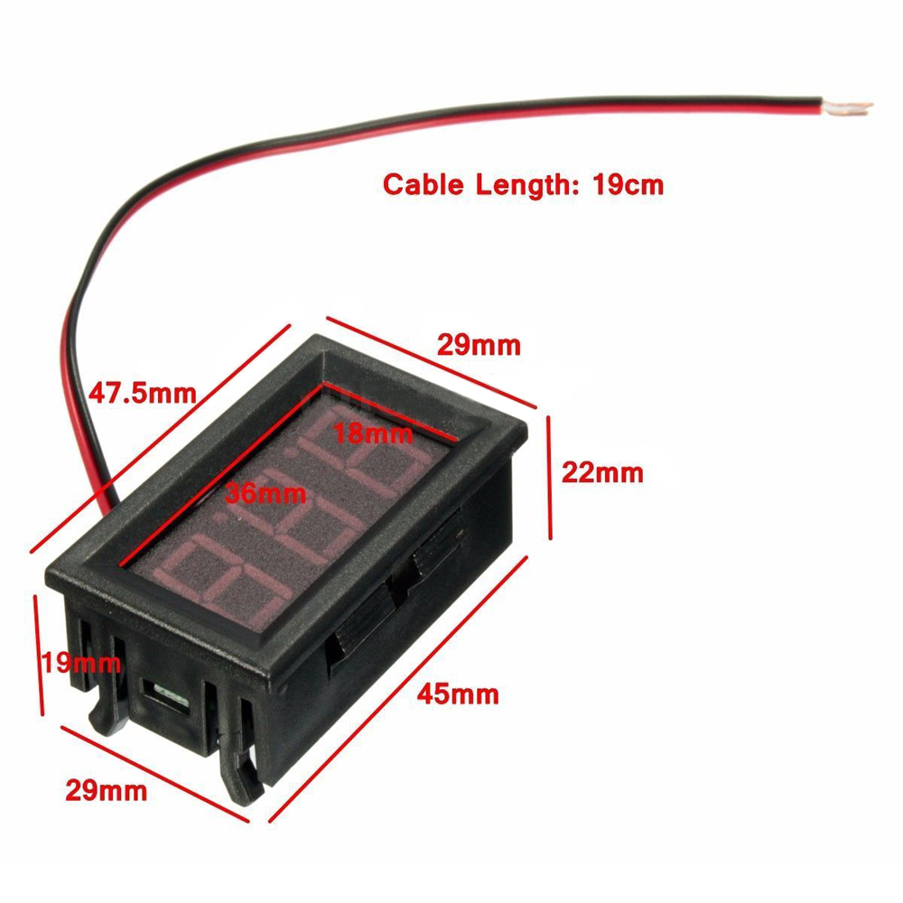 Astounding 12V Red Led Voltmeter Battery Charging Indicator Wiring Dashboard Wiring Cloud Hisonuggs Outletorg