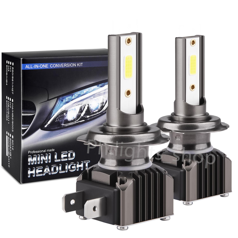 2 Pcs H7 LED Headlight Kit 48000LM High/&Low Beam Bulbs 6000K Bright VS Xenon HID