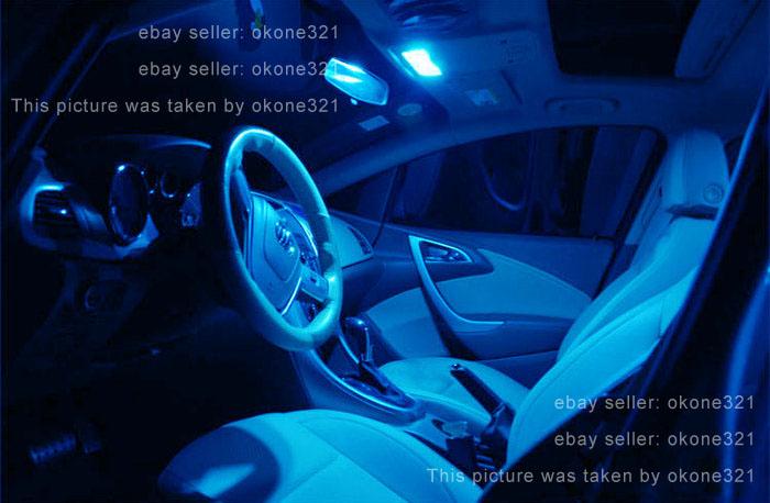 10-pc 5730 LED Aqua Blue Car Interior Map Dome Light 31MM DE3175 6428 Bulb D