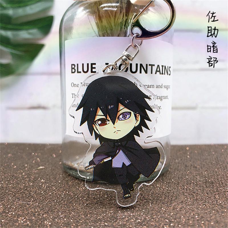 Anime Naruto Uchiha Sasuke Keychain Acrylic Key Ring Hot Gift