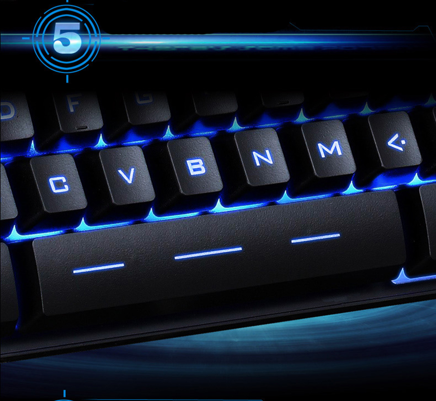 Details about USB Wired Keyboard Gaming Illuminat Colorful LED Backlit  Mechanical Game New