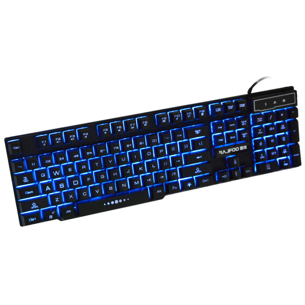 Details about LED USB Wired Keyboard Gaming Backlit Mechanical Keyboard  Gamer For PC Game