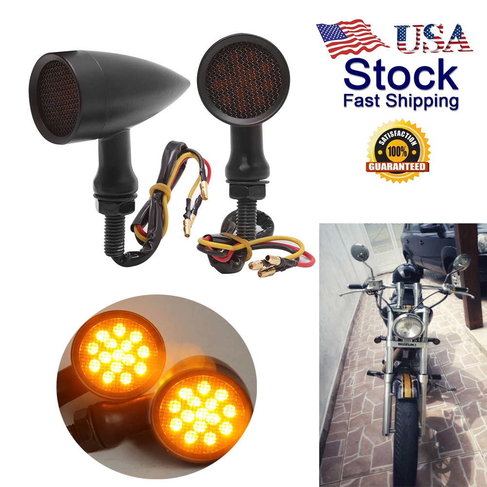Black Smoke 20 LED Billet Turn Signal Light for Harley Sporster Dyna Bobber