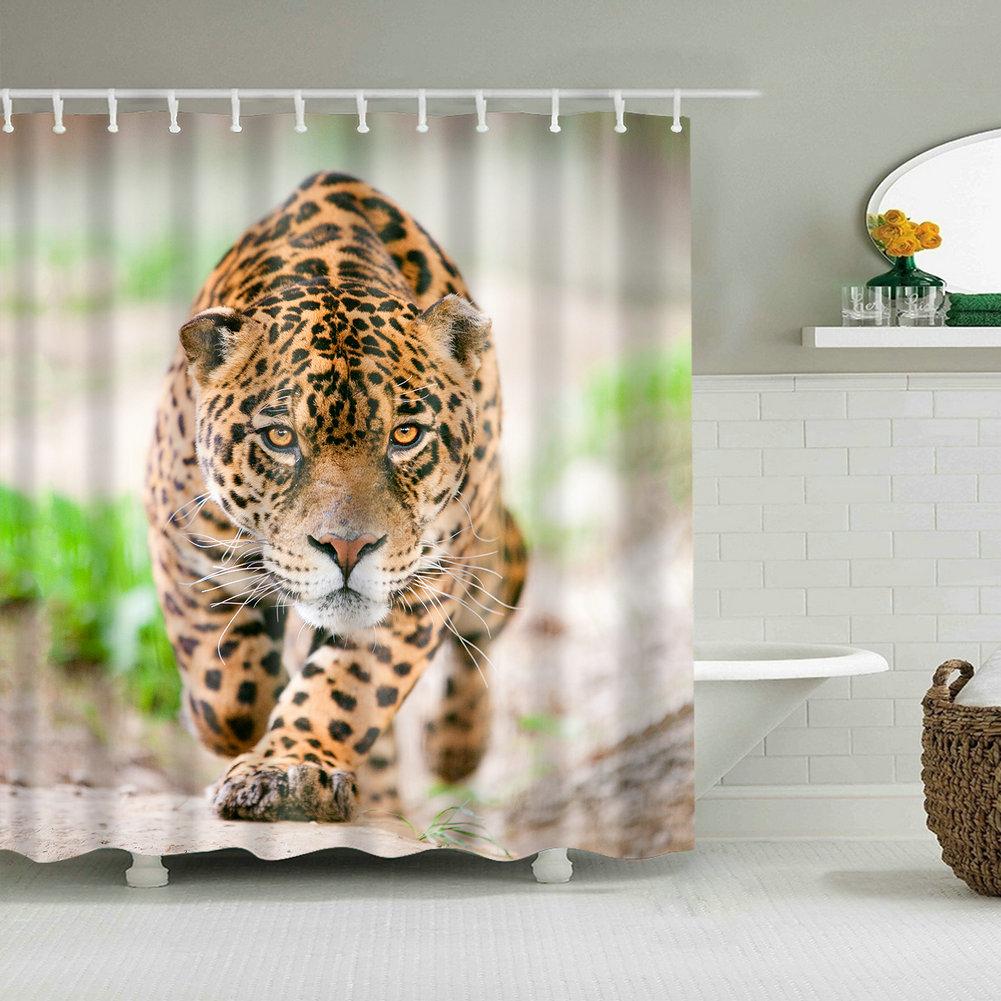 Shower Curtain Zebra Sketch Art Decor for Bathroom Animal Theme Bath Curtains