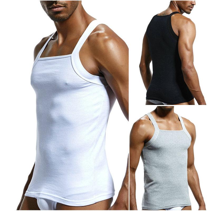 Men/'s Cotton G UNIT Square Cut Ribbed Tank Top Undershirt Underwear Vest