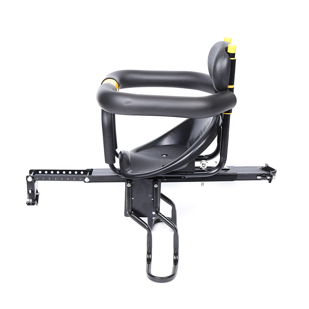 Safety Child Bicycle Seat Bike Front Baby Seat Kids w//Foot Pedals Back Rest M2T8