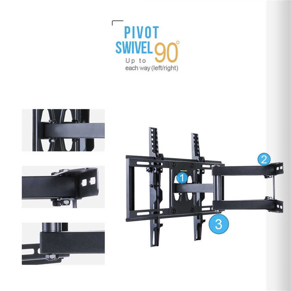 Unho 23 56 Quot Double Arm Tilt Amp Swivel Tv Wall Mount Bracket