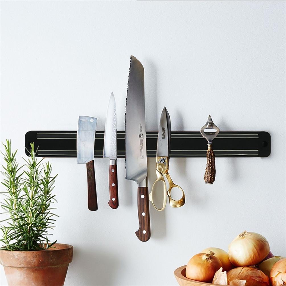 Strong Magnetic Wall Mounted Kitchen Knife Magnet Bar Holder Display Rack Strip