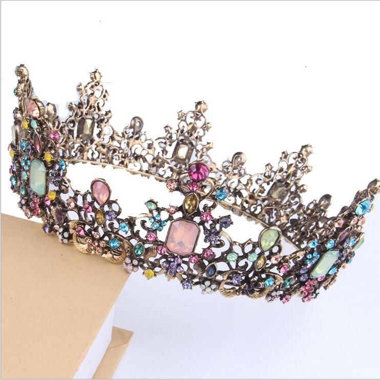 6cm High Vintage Style Large Crystal Tiara Crown Wedding Prom Party Pageant