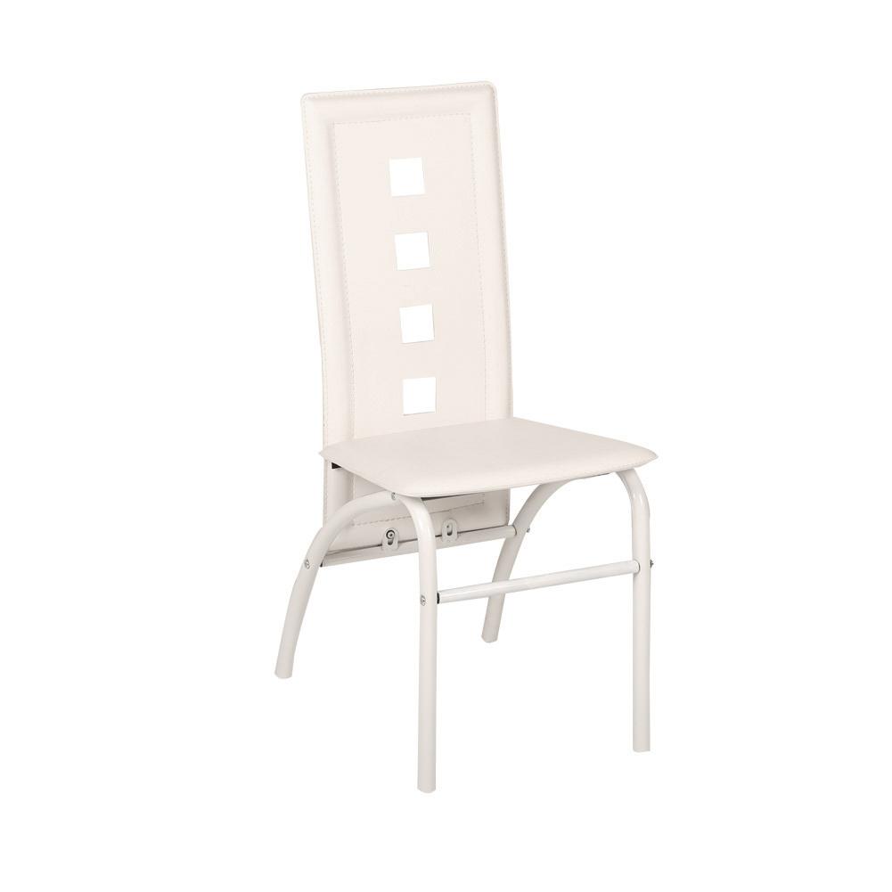 6x st hle set esszimmer essgruppe k chenstuhl hochlehner sitzgruppe wei ebay. Black Bedroom Furniture Sets. Home Design Ideas