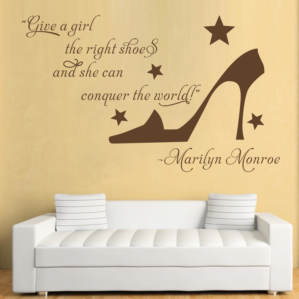 Art Decals Marilyn Monroe Quotes Sticker Wall Decor Girl\'s Room ...