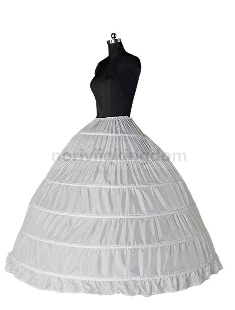 6 Hoop Petticoat/Bridal Long Crinoline/Prom Underskirt/Fancy Wedding ...