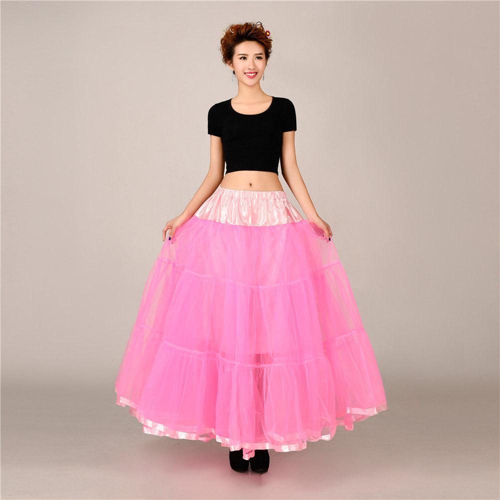 Women Retro Long Dress Party Wedding Petticoat 50s Slips Underskirt ...