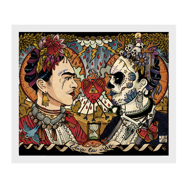 Tattoo Skull Art Canvas Print Painting Picture Wall