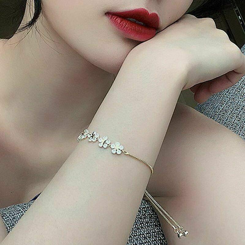 Handmade jewelryDesigner bracelet Full Crystal Flower braceletrhinestone charm braceletBracelet Band ZirconCrystalsopen cuff bangle