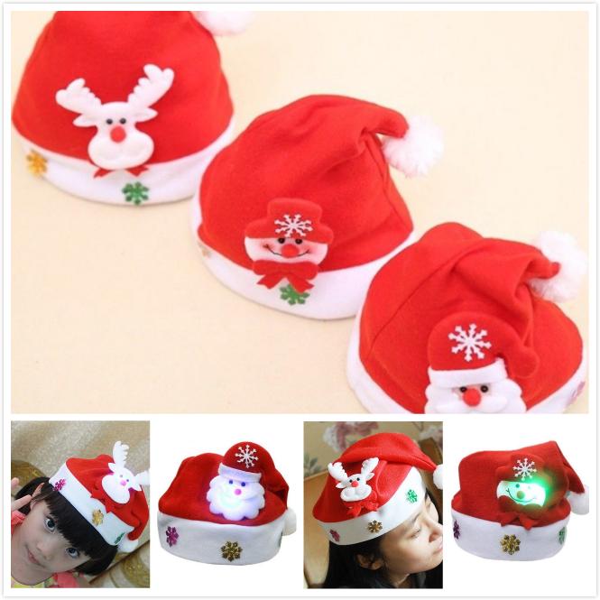 d9bf914970ace LED Light Santa Claus Hat Chrismas Xmas Holiday Adults Teens Kids Unisex  Holiday