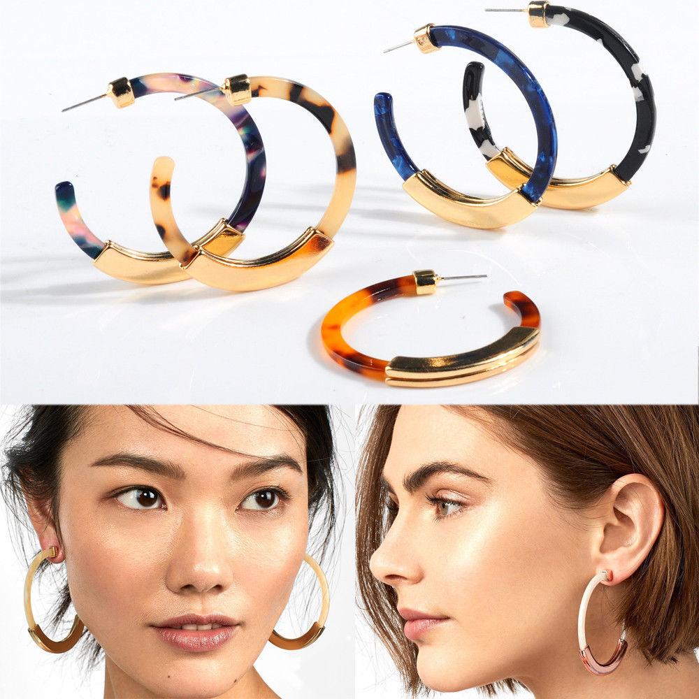 Lady Exaggerated Circle Hoop Earrings Dangle Women Earrings Jewelry C