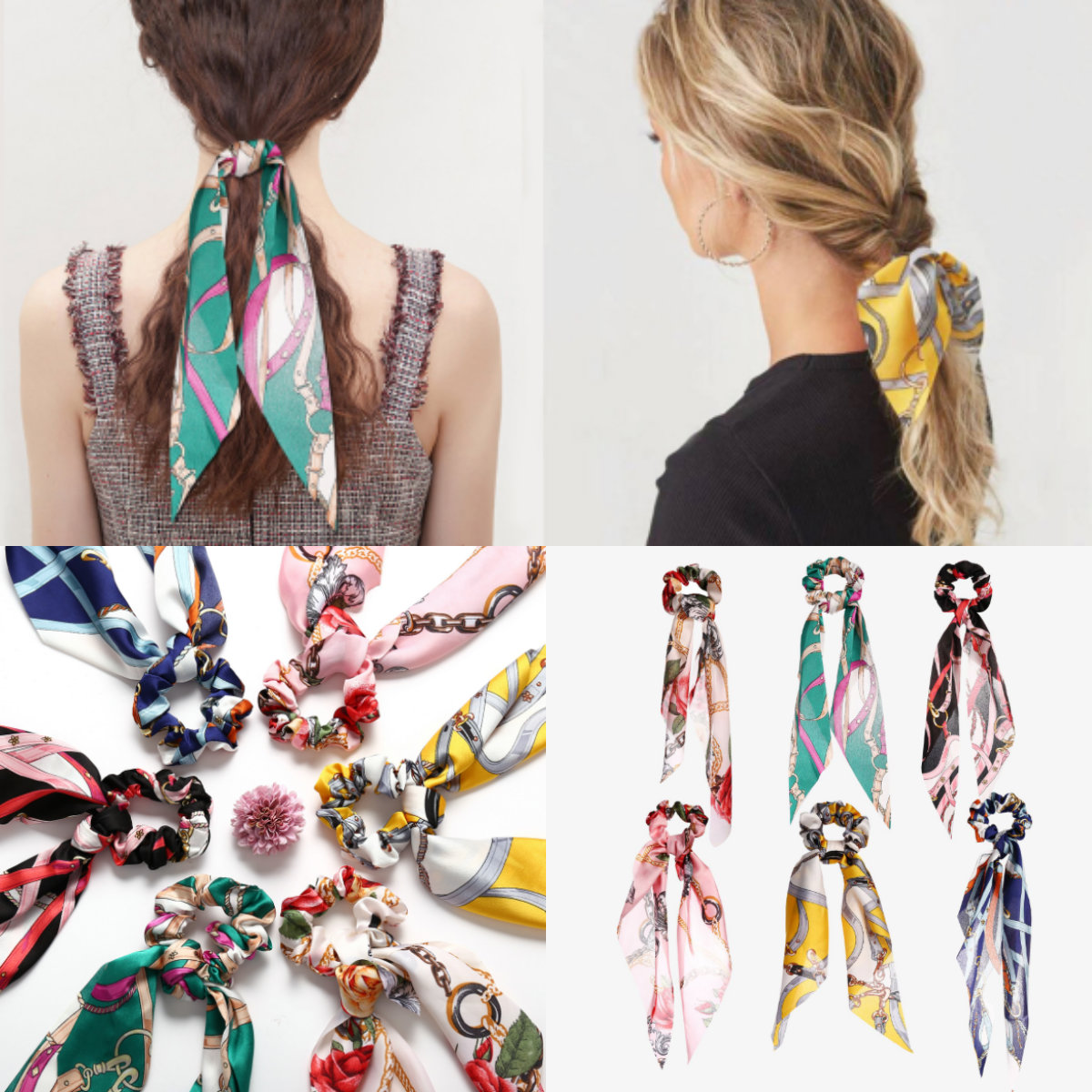Ponytail Scarf Bow Elastic Hair Rope Tie Scrunchies Hair Bands Hair Accessories