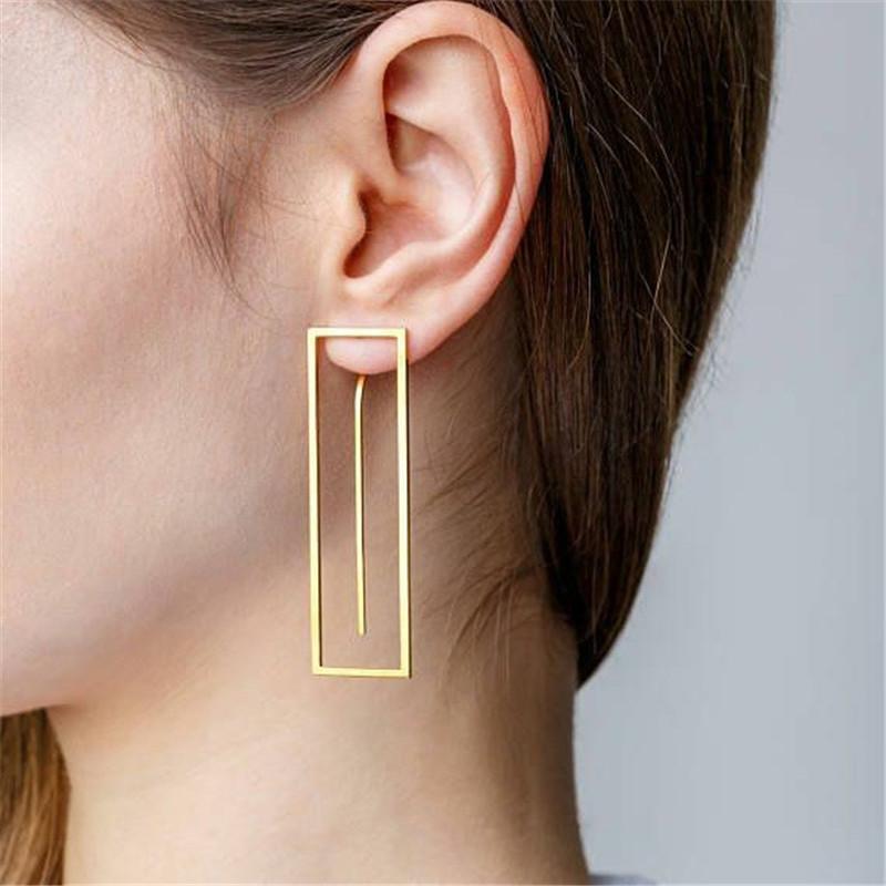 Luxury Earring Women Crystal Geometric Hoop Dangle Earrings Fashion Jewelry Gift