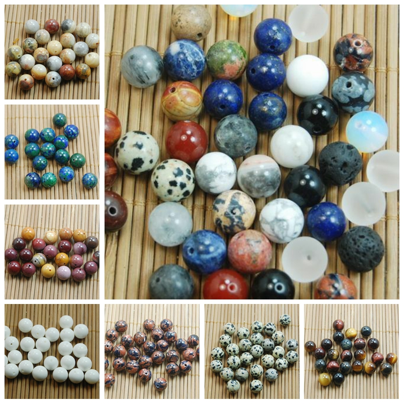 Natural White Tridacna Gemstone Stone Round Loose Beads Finding Craft 4//6//8//10MM