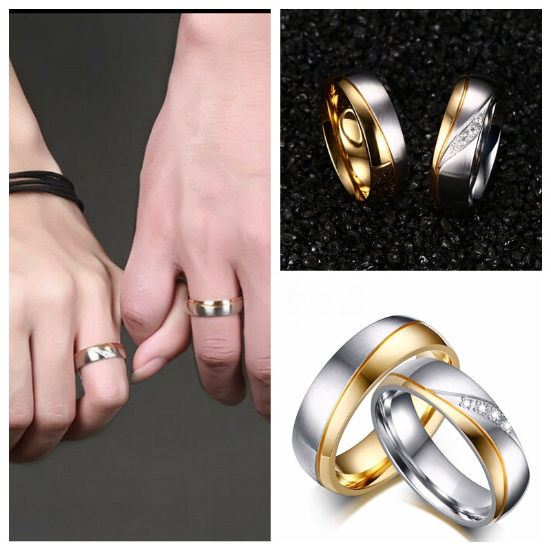 Women/'s Fashion Ring with Nail Head Stainless Steel Gold//Silver//Rose Gold