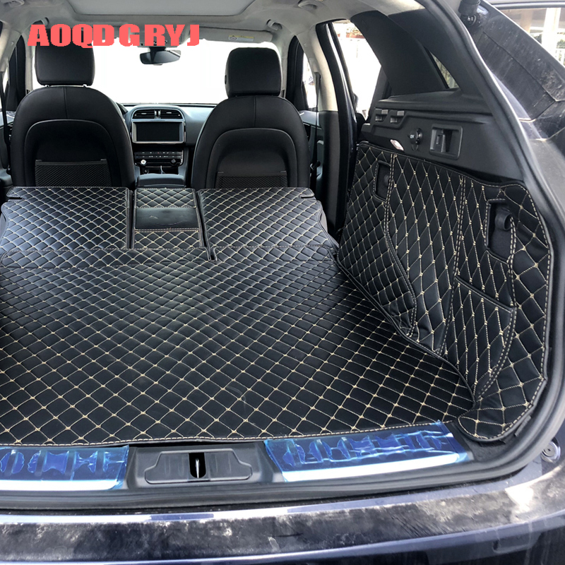 For Jag-uar F-Pace 2017 2018 2019 2020 Tailored Vehicle Rear Cargo Liner Trunk Tray Floor Mat Sheet Mat Cover Boot Liner Cargo Sheet Carpet Luggage Tray Waterproof Mat Removable Odourless Anti-slip