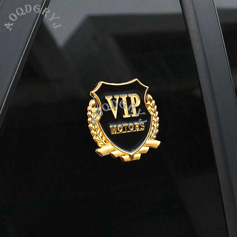 2X VIP 3D Metal Emblem Car Trunk Side Wing Fender Decal Badge Sticker VOLKSWAGEN