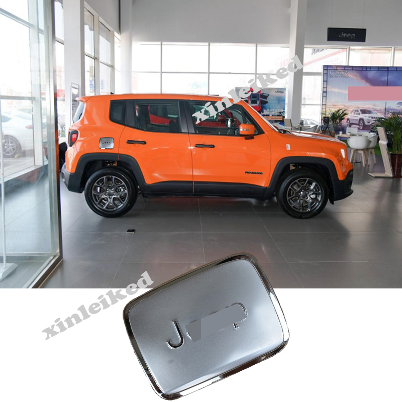 For Jeep Renegade 2016 2019 Stainless Car External Gas Cap Fuel Tank Cover Trim Ebay