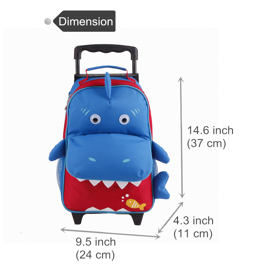 Yodo Trolley Rolling Luggage Toddler Backpack Kids Suitcase School ...