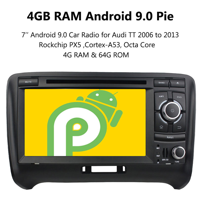Details about 7'' Android 9 0 Car DVD GPS Radio Multimedia Player for Audi  TT 2006 to 2013