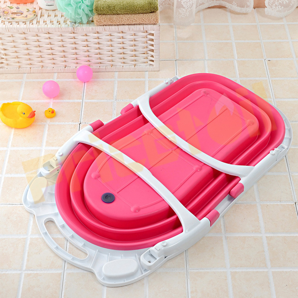 OZ-Baby-Infant-Newborn-Bath-Bathtub-Bathing-Folding-Safety-Foldable-Tub-Durable miniature 18