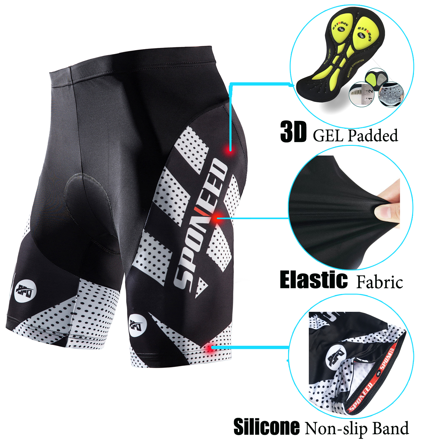 Details about Cycling Shorts Padded Men Spin Bicycle Pants Half Sleeve  Stretchable Bike Tights 2f8300f47